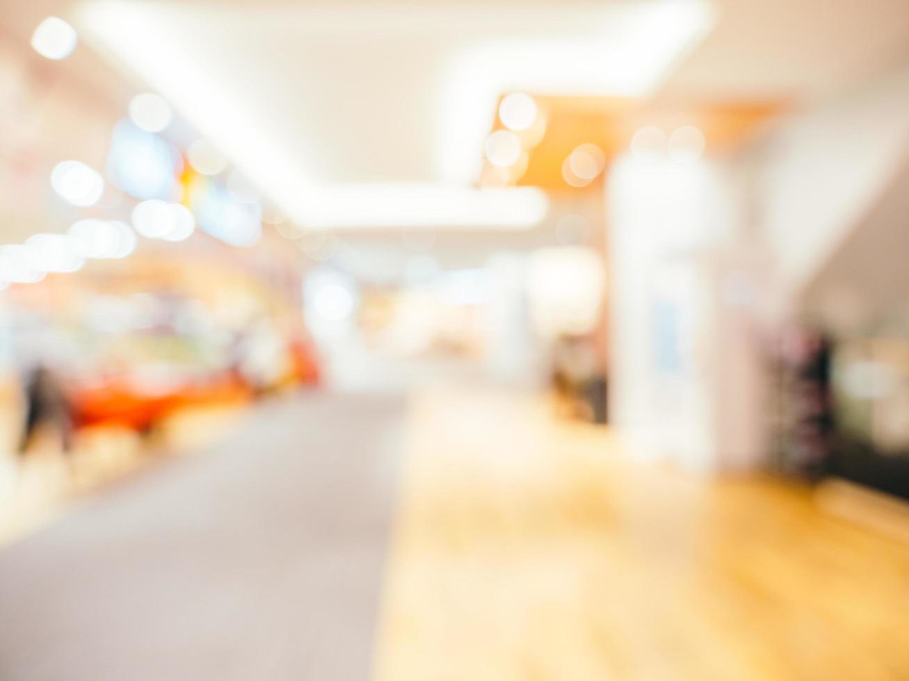 abstrakte Unschärfe und defokussierter Einkaufszentrumhintergrund foto