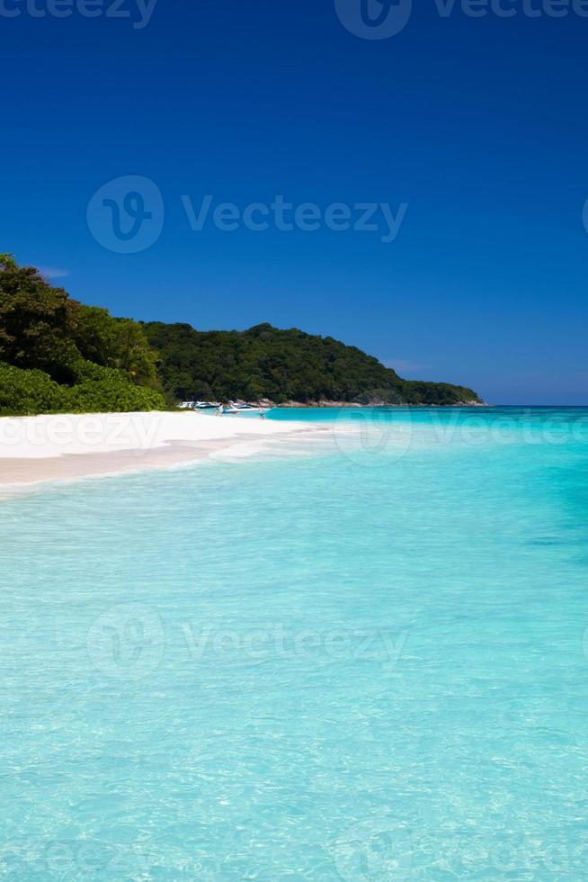 blaues klares Wasser foto