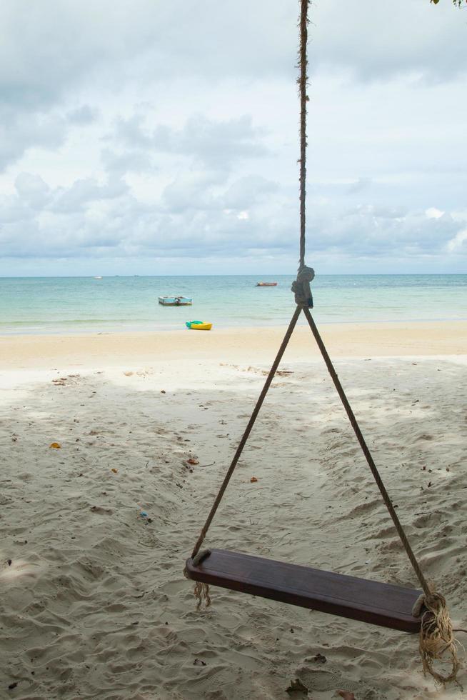 Schaukel am Strand foto