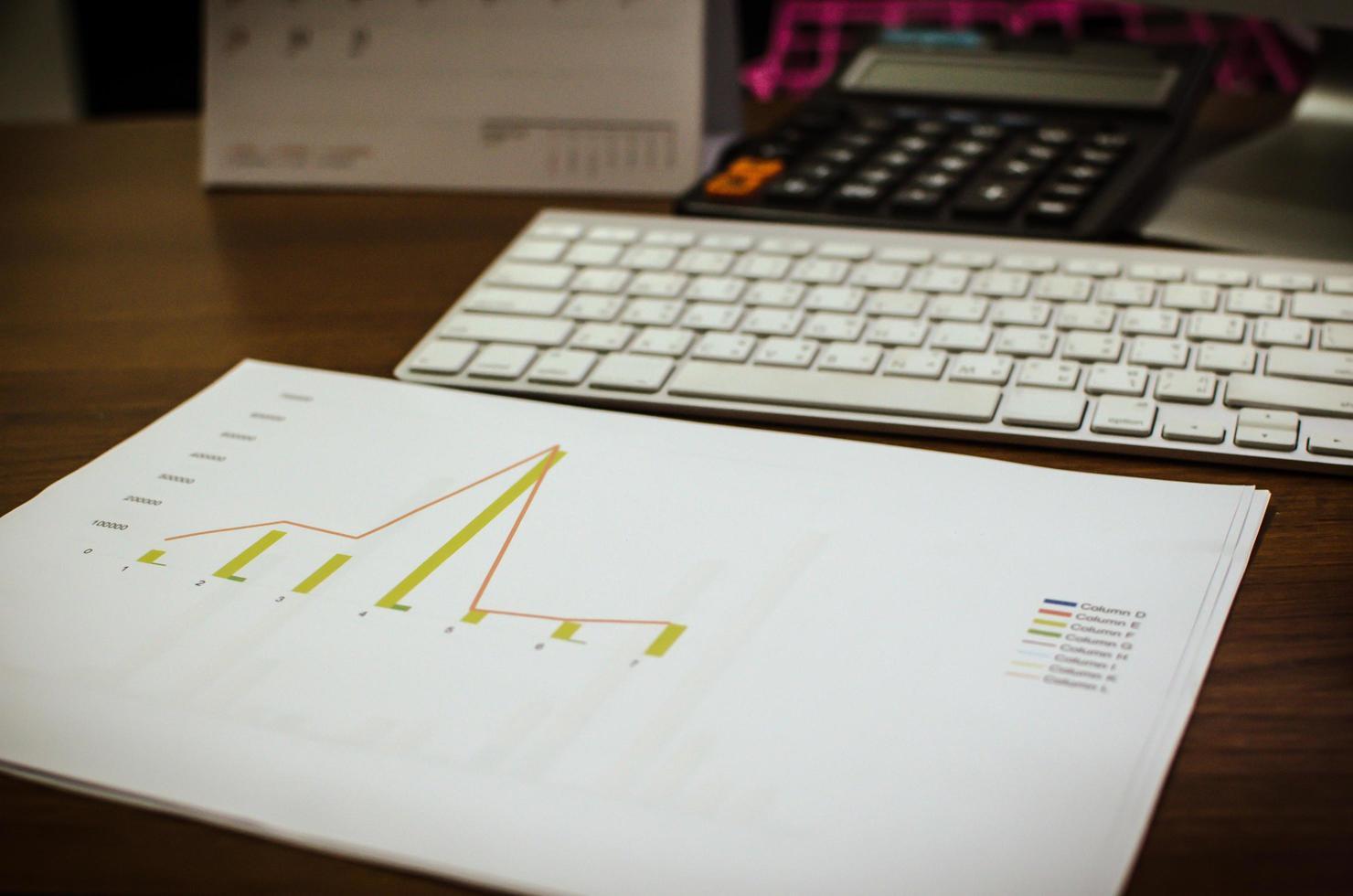 Konzept für Unternehmensfinanzierung, Buchhaltung, Statistik und analytische Forschung foto