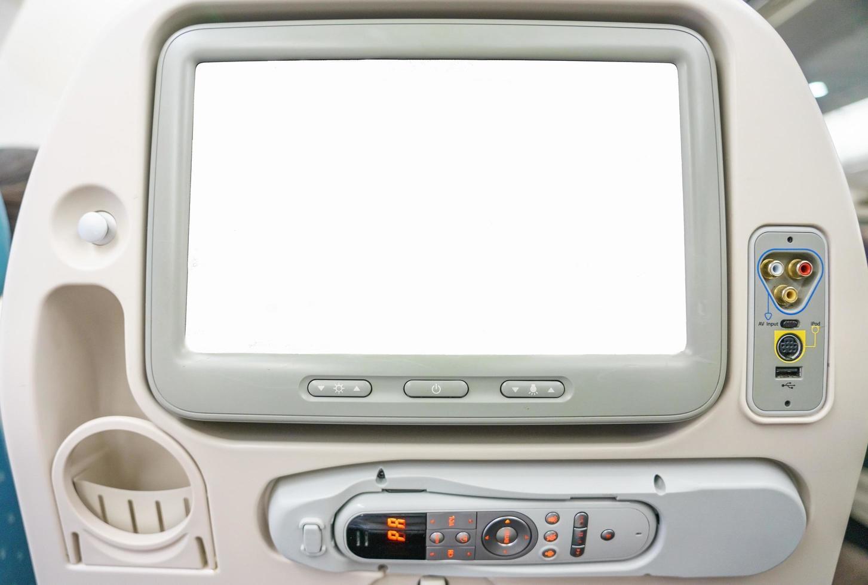 Monitor im Beifahrersitz foto