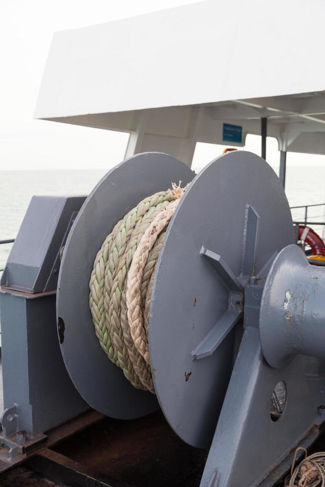 Seil auf dem Schiff foto