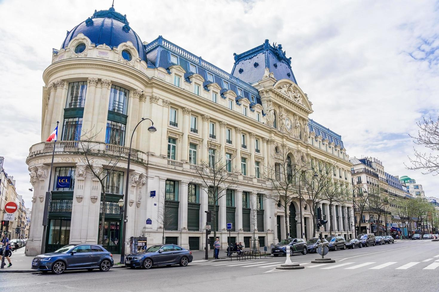 Paris, Frankreich, 9. April 2018, Paris Wohngebäude foto