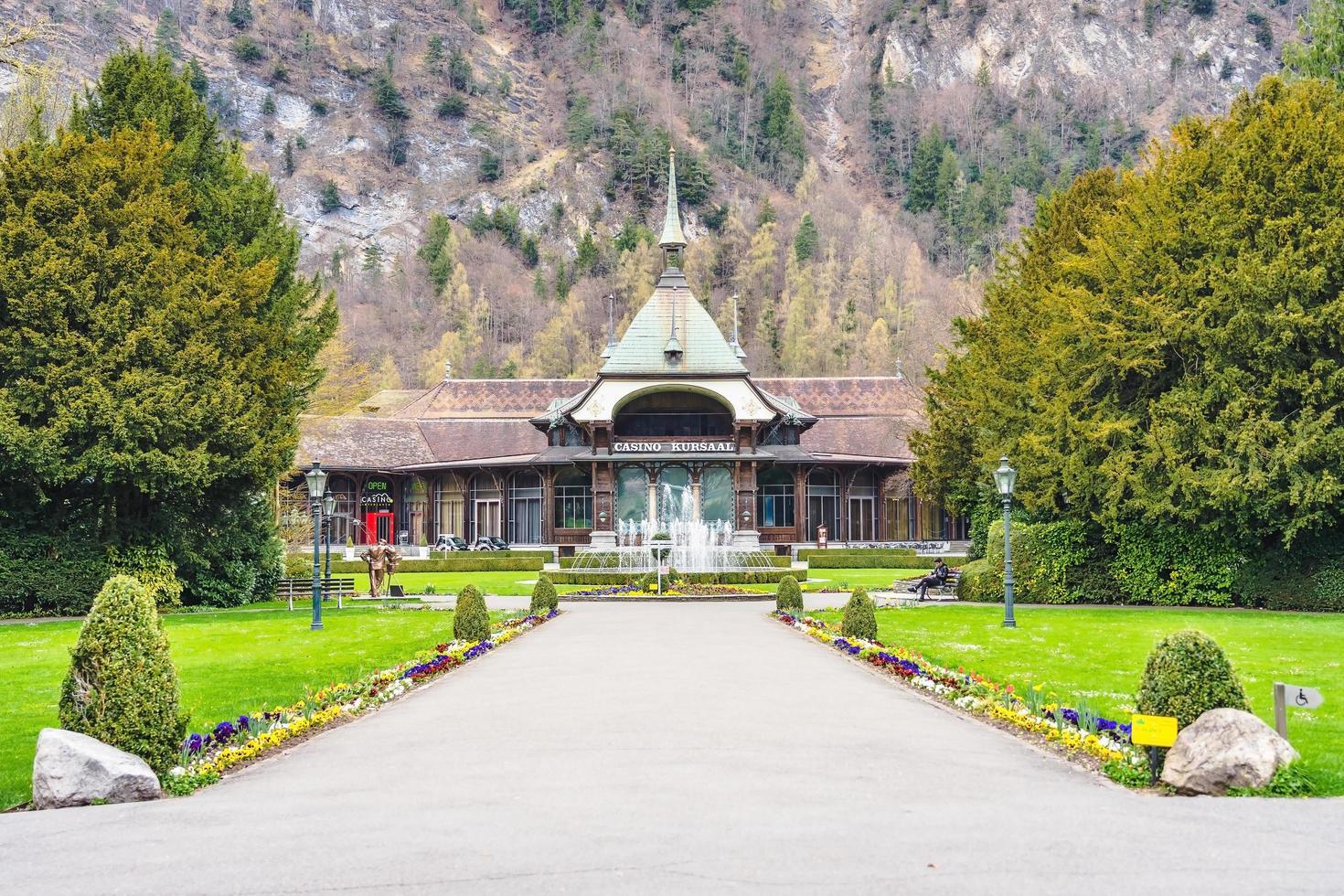 Casino Kursaal in Interiken, Schweiz. foto