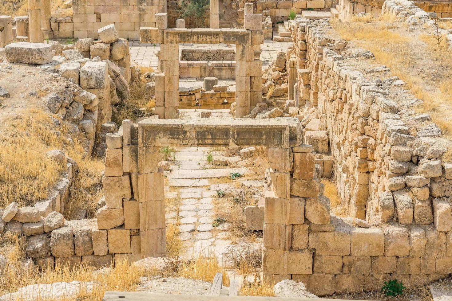 Ruinen der alten römischen Stadt Gerasa, Jordanien foto