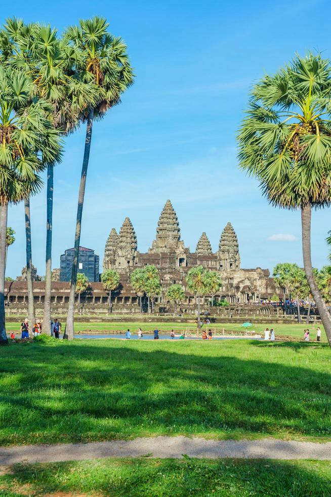 Menschen im Angkor Wat Tempel, Siem Reap, Kambodscha foto