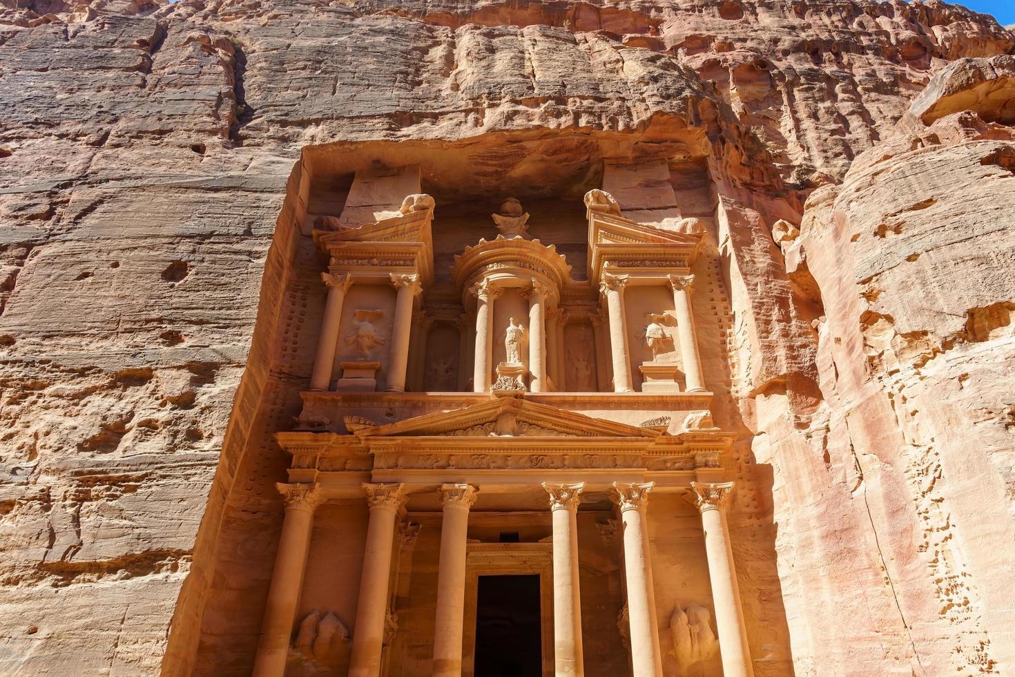 al khazneh oder die kasse in petra, jordan foto