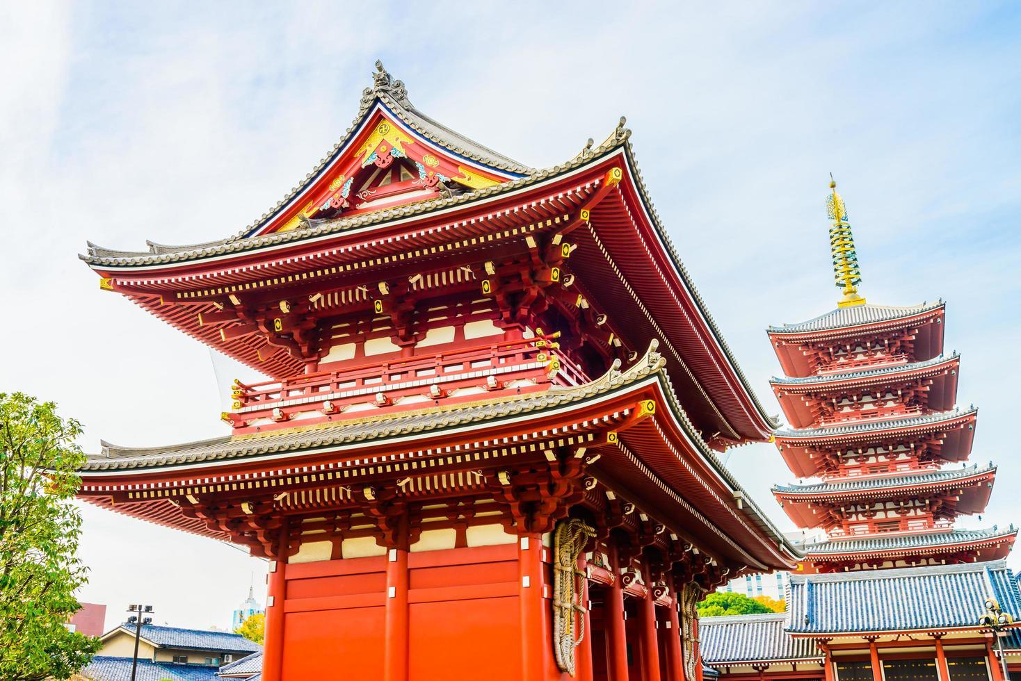 Sensoji-Tempel in Tokio, Japan foto