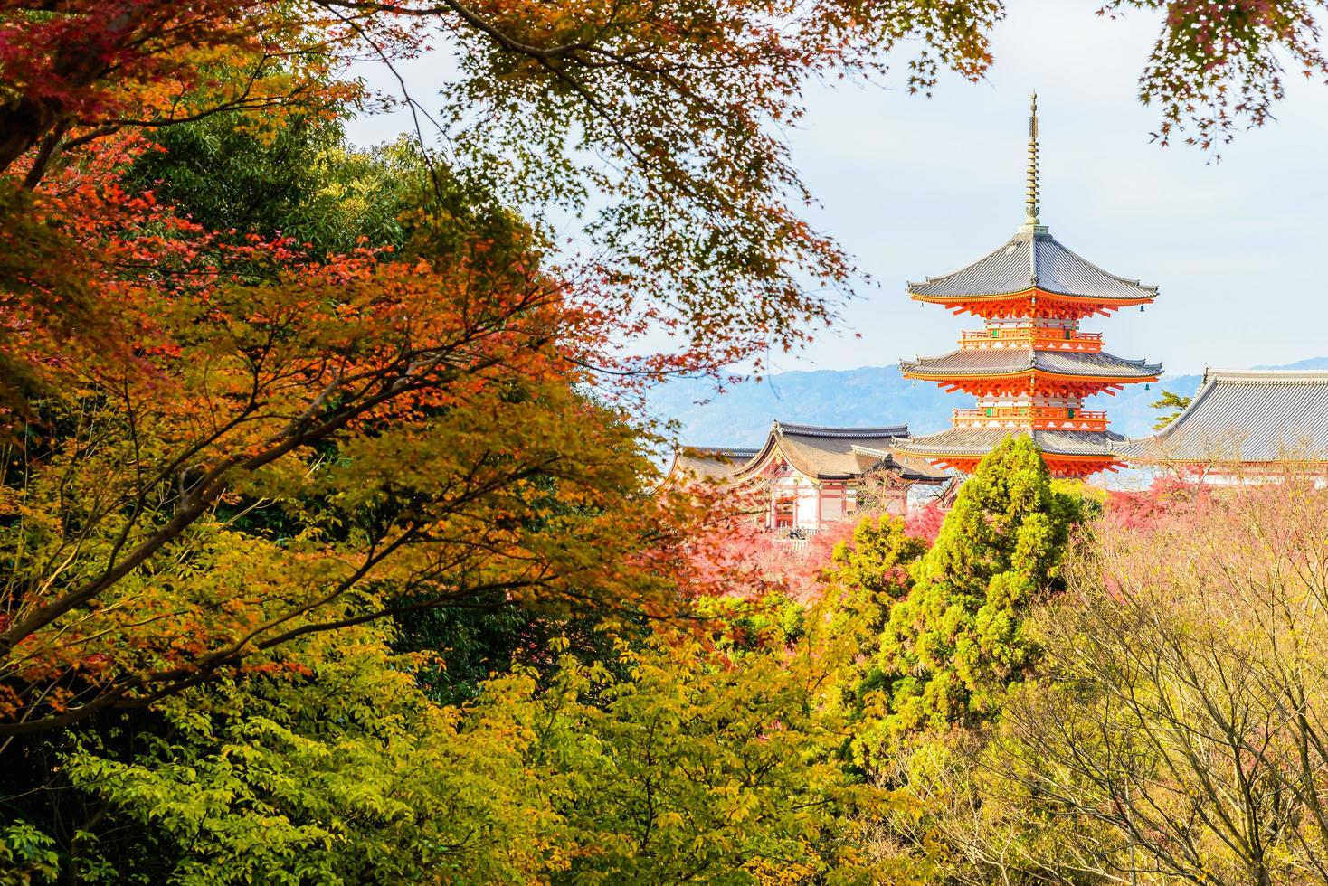 kiyomizu dera Tempel in Kyoto, Japan foto