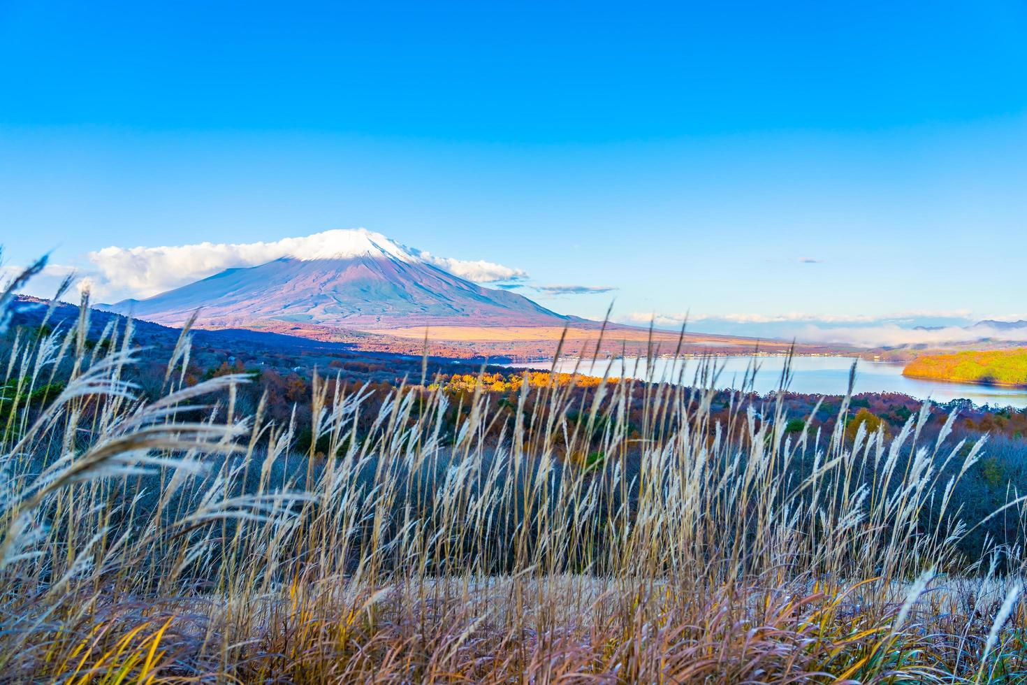 Fuji Berg bei Yamanakako oder Yamanaka See in Japan foto