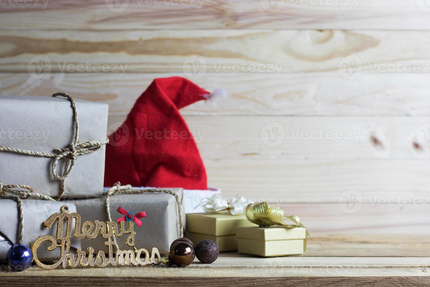 Frohe Weihnachten Dekorationen foto
