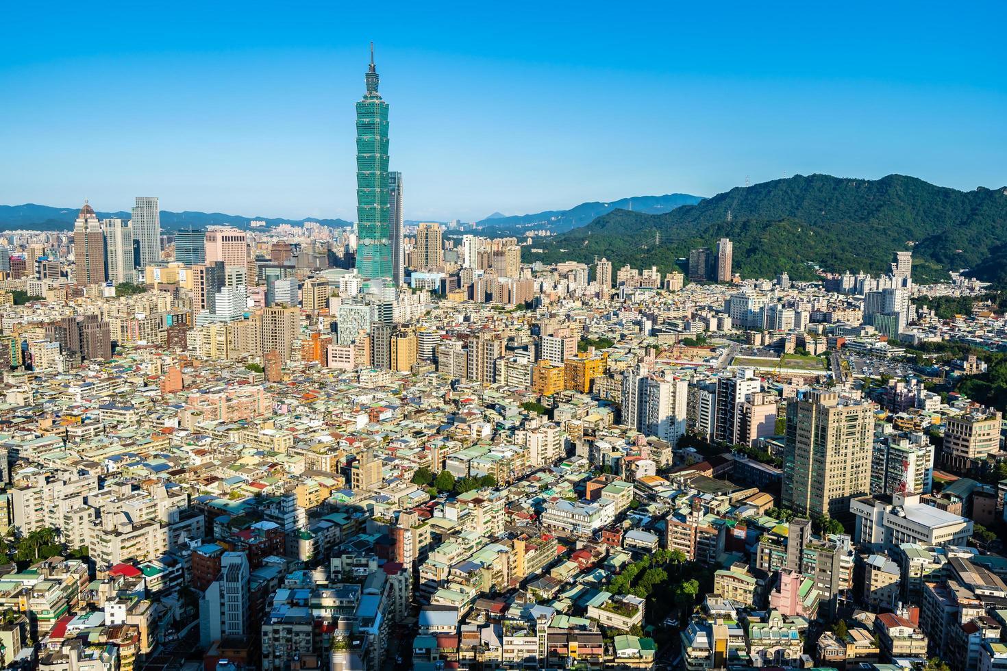 Taipei 101 Turm in der Stadt Taipeh, Taiwan foto