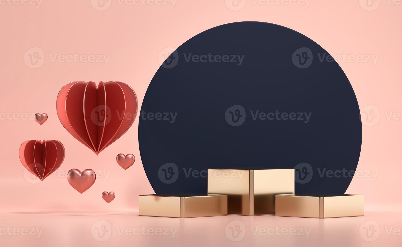 rosa Valentinstagsbühnenpodestmodell foto