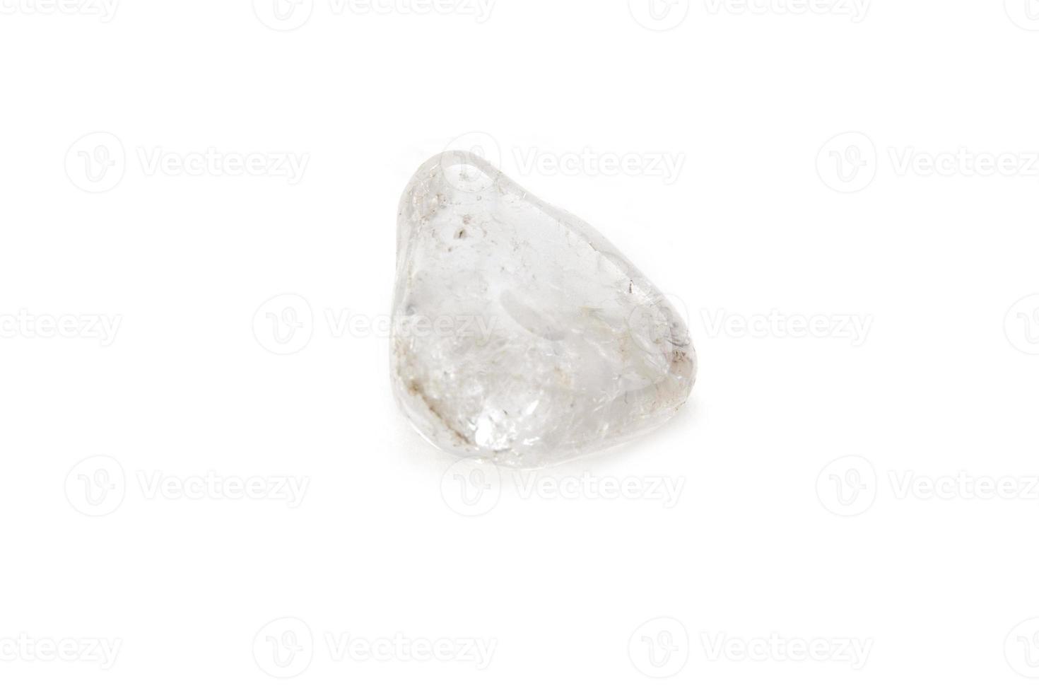 Kristall auf dem weißen Hintergrund foto
