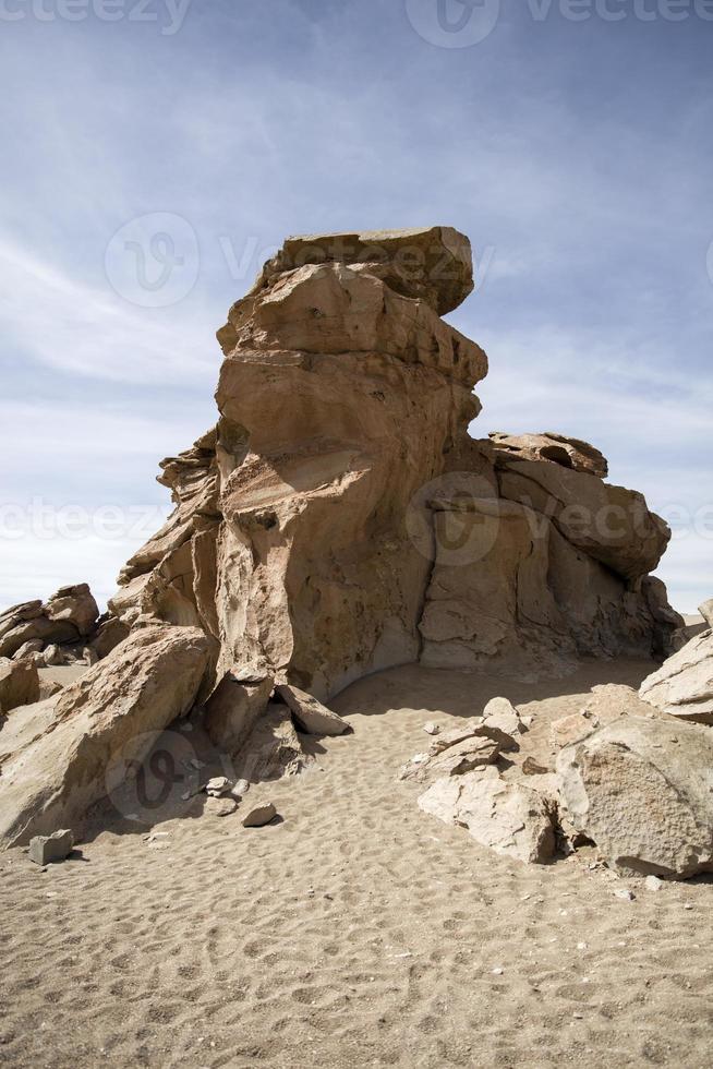 Felsformationen der Dali-Wüste in Bolivien foto