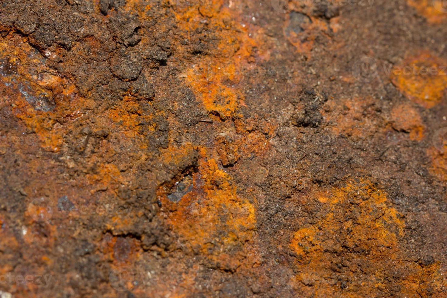 abstrakter Hintergrund des orange Rostschmutzes foto