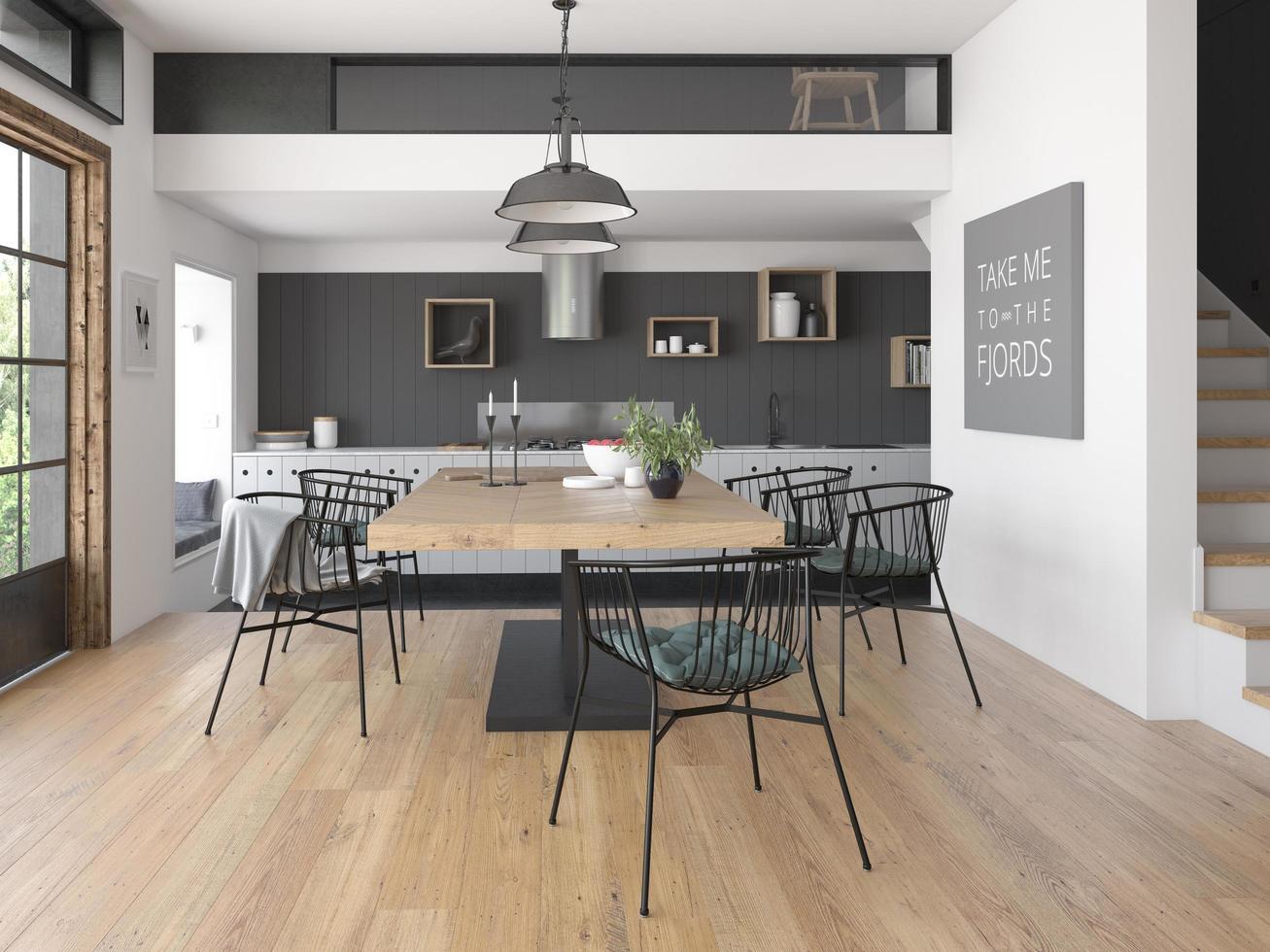 Innenarchitektur des modernen Stils eines Hauses in der 21D ...