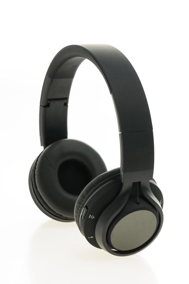 Kopfhörer auf weißem Hintergrund foto