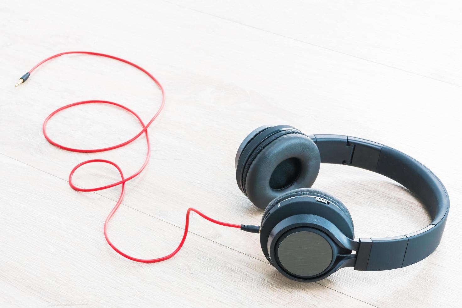 Kopfhörer Audio zum Hören foto