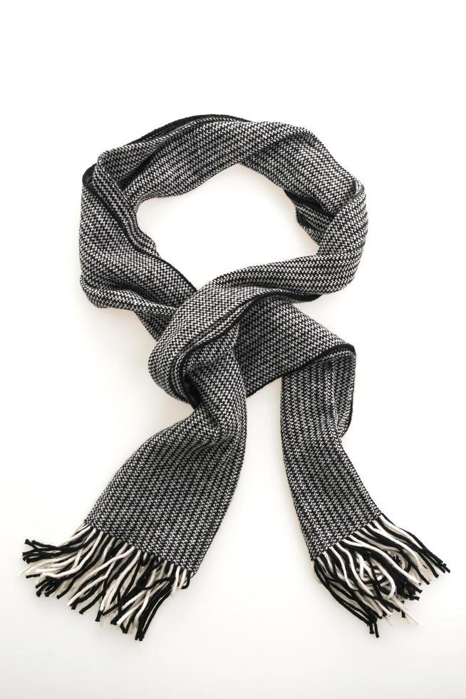 grauer Schal auf weißem Hintergrund foto