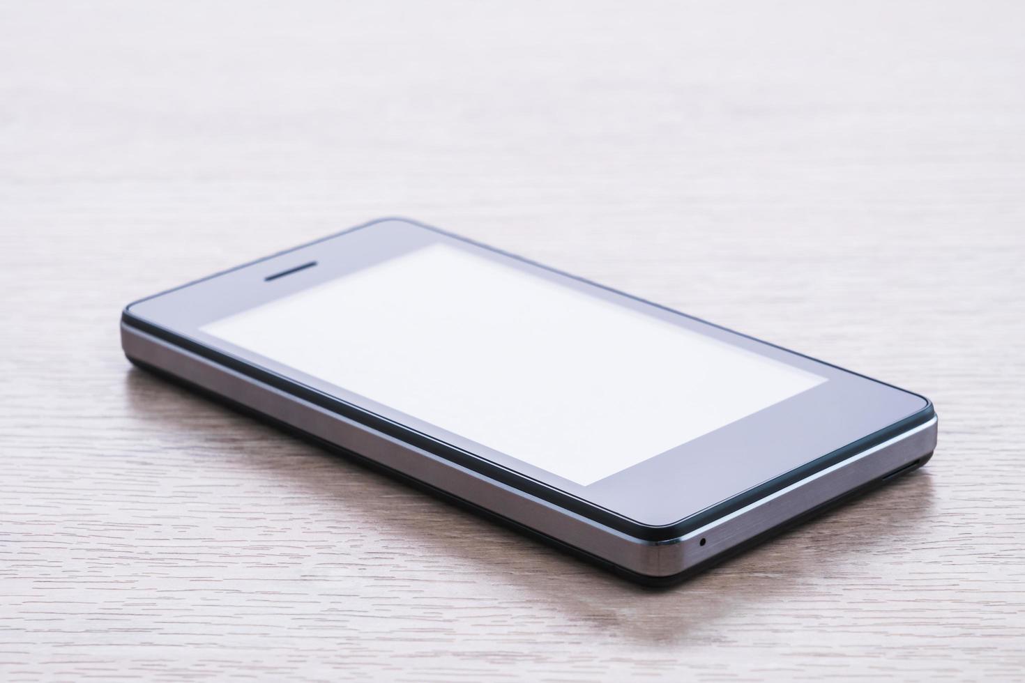 Smartphone auf weißem Hintergrund foto