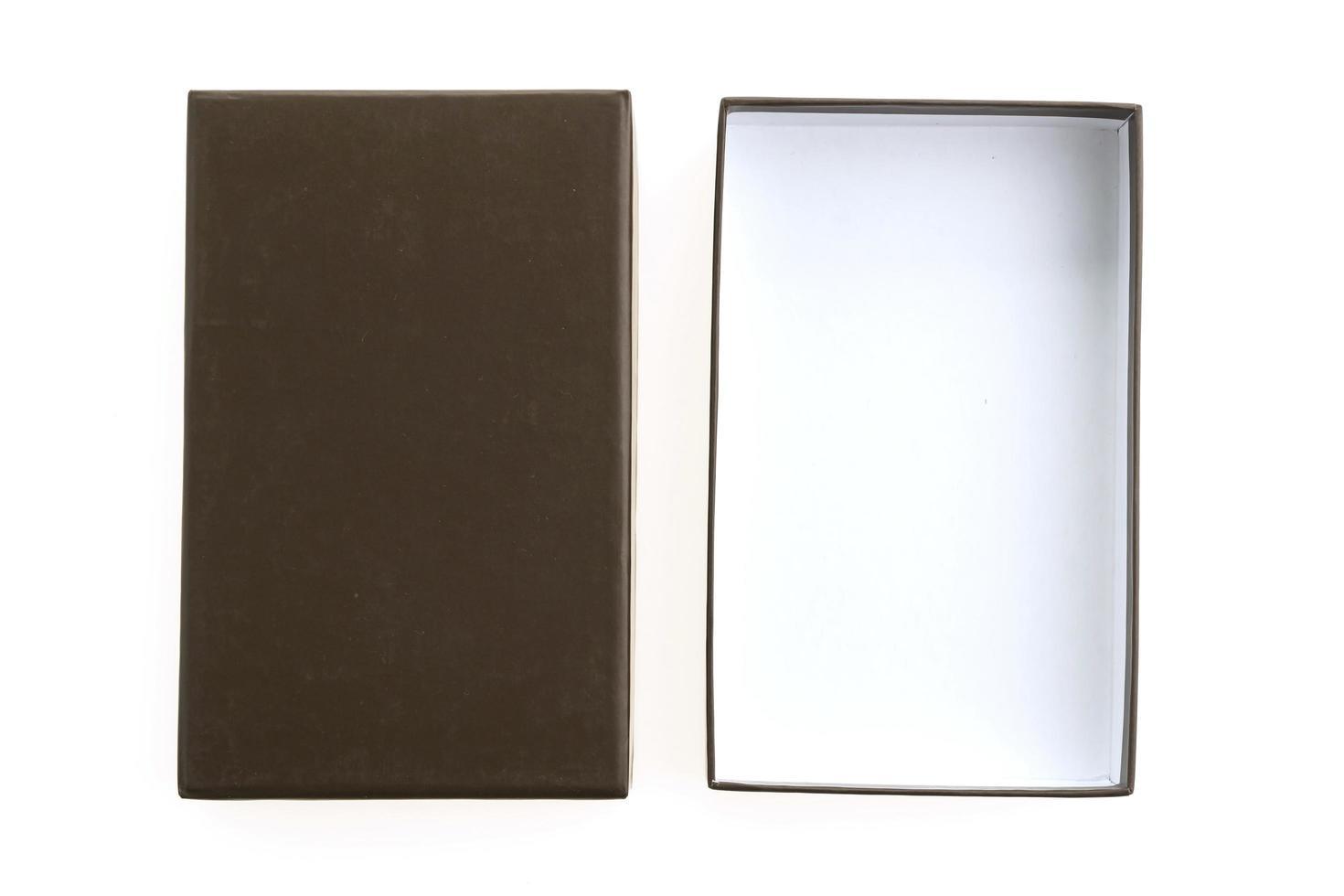 Black Box auf weißem Hintergrund foto