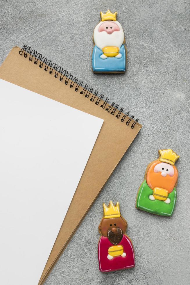 drei Könige Kekse und Notizen foto