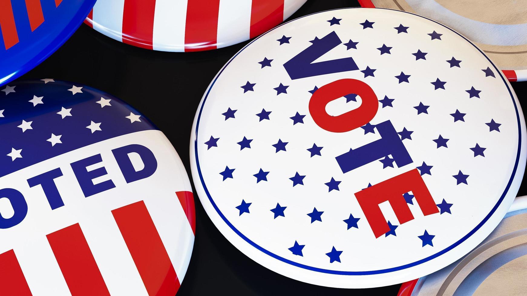 Abstimmungsknöpfe Nahaufnahme foto