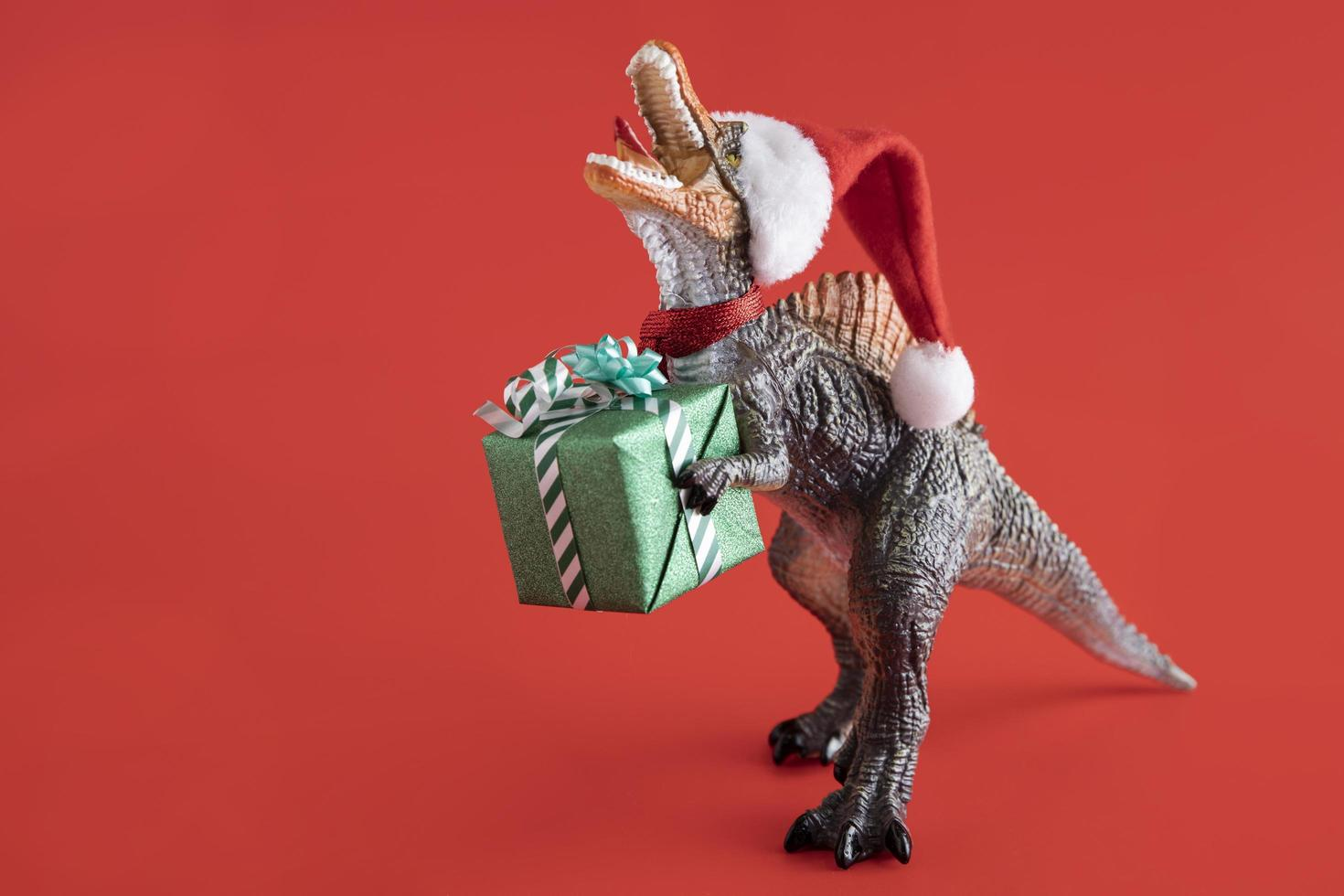 Weihnachts-T-Rex-Konzept foto