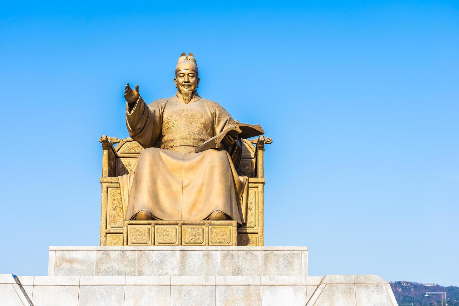Statue des Königs Sejong in Seoul, Südkorea foto