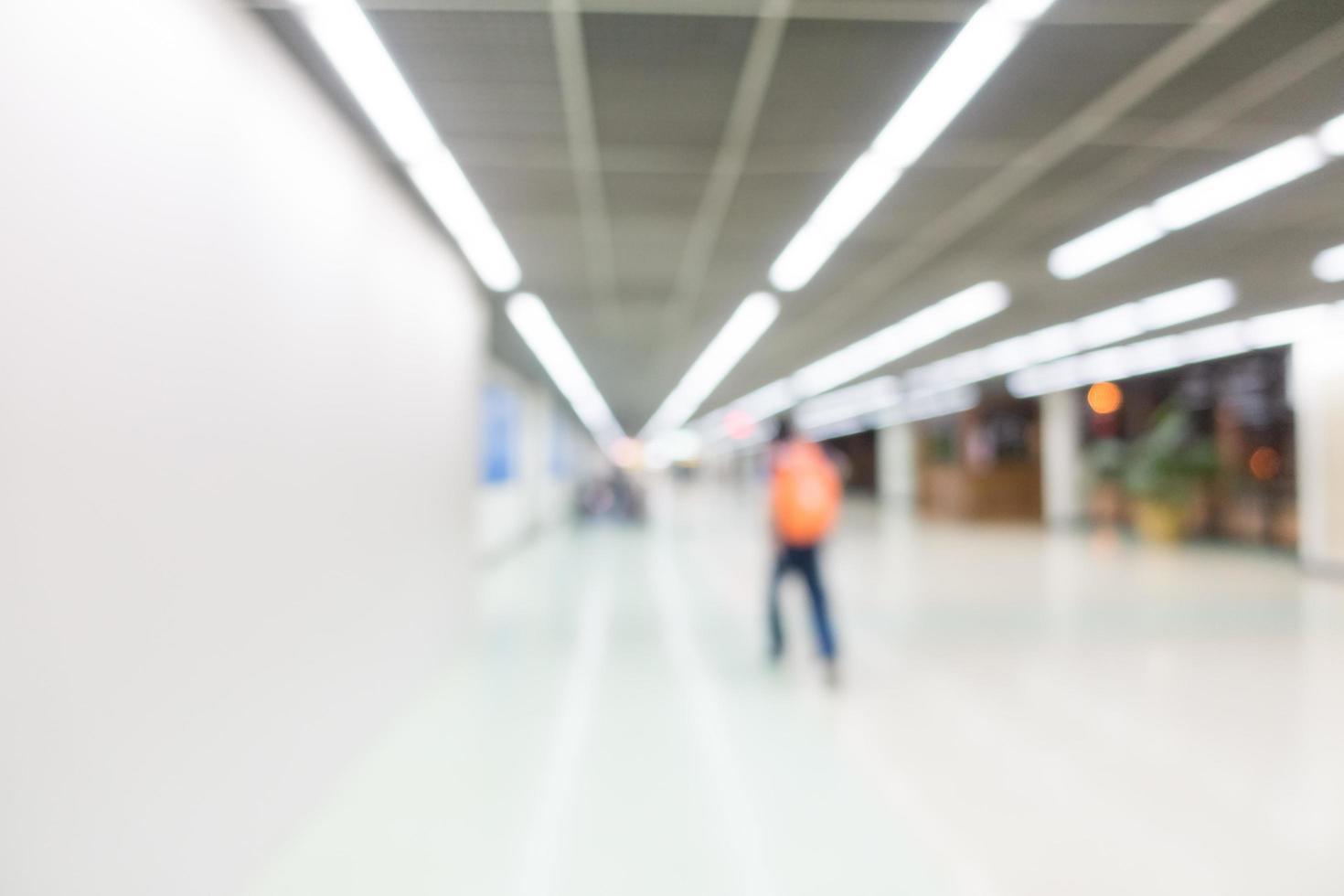abstrakter unscharfer Flughafenhintergrund foto