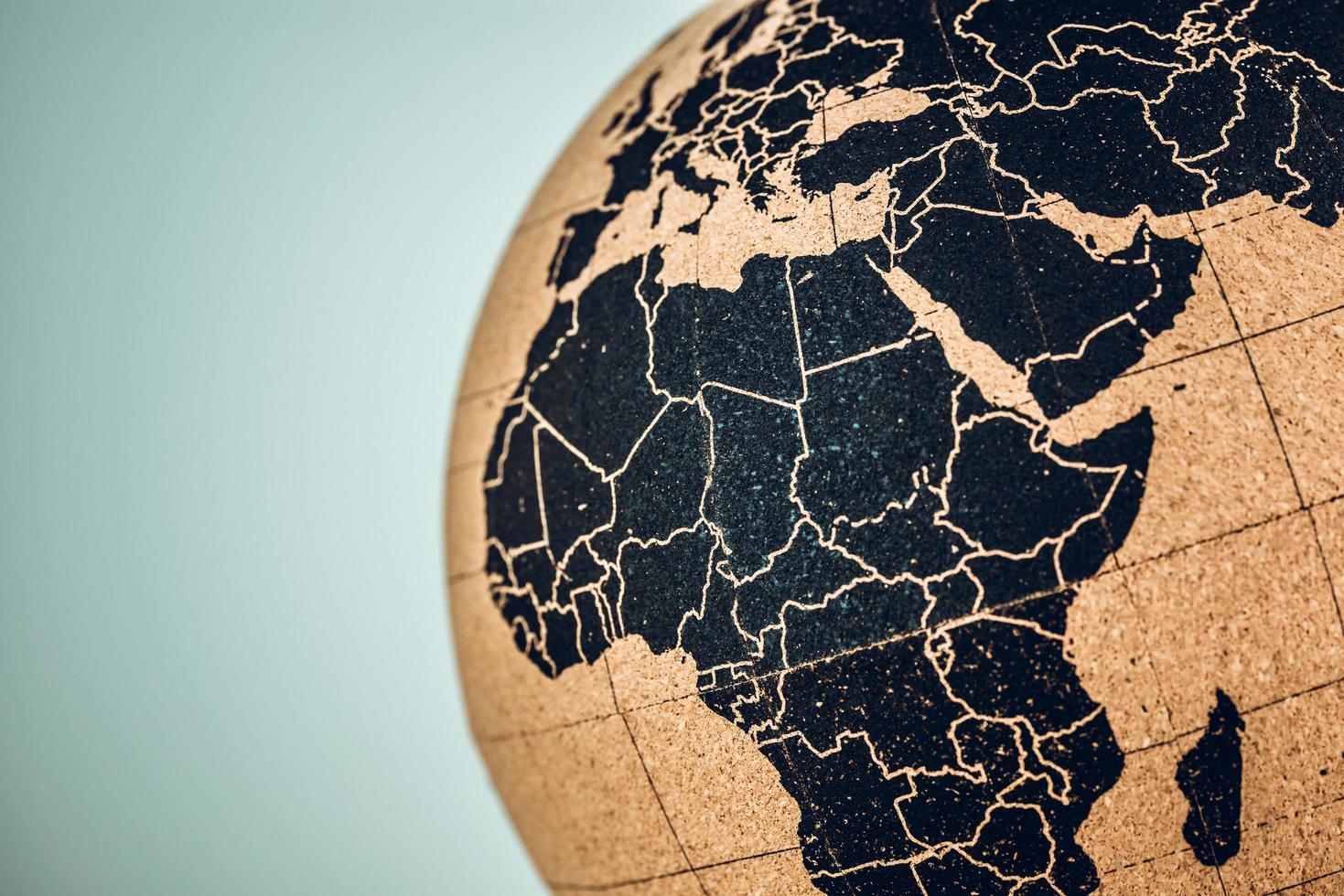 Afrika und Mitte auf einem Globus foto
