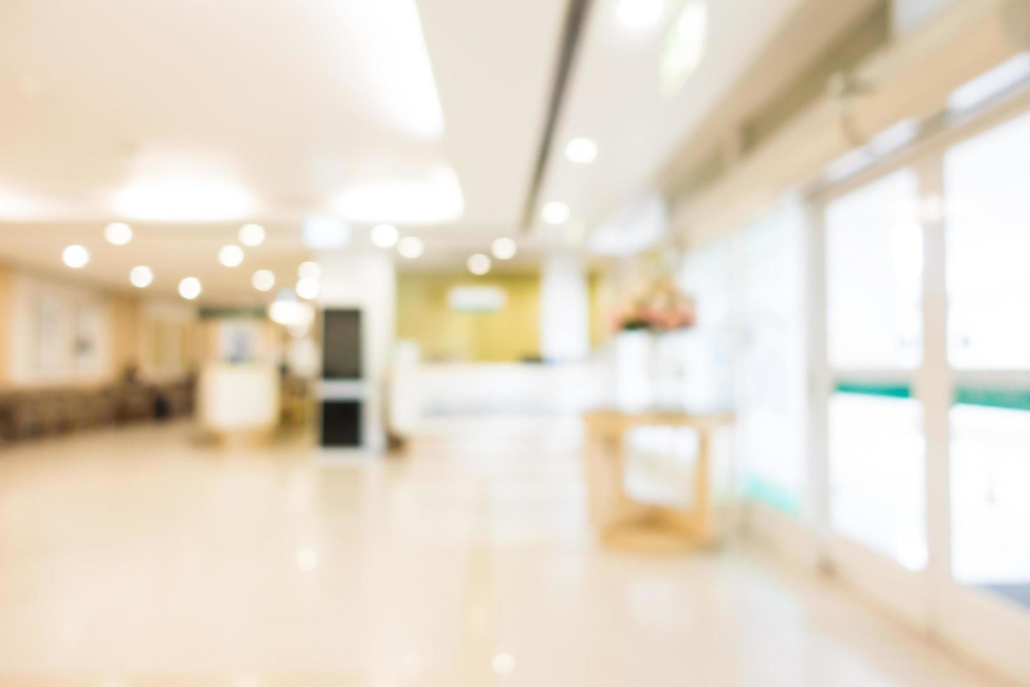 abstrakt defokussiertes Krankenhaus- und Klinikinterieur foto