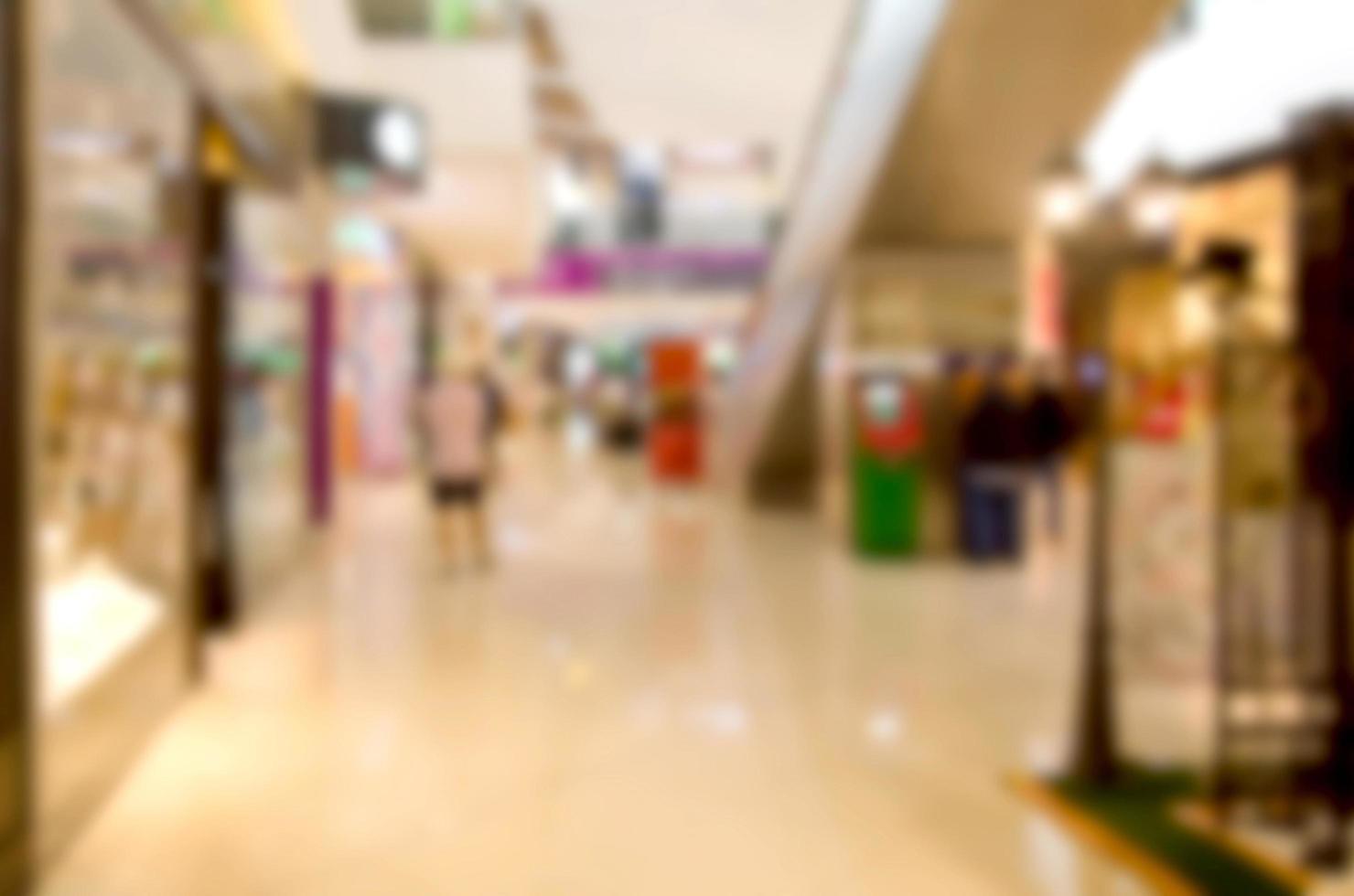 verschwommener Hintergrund des Einkaufszentrums foto
