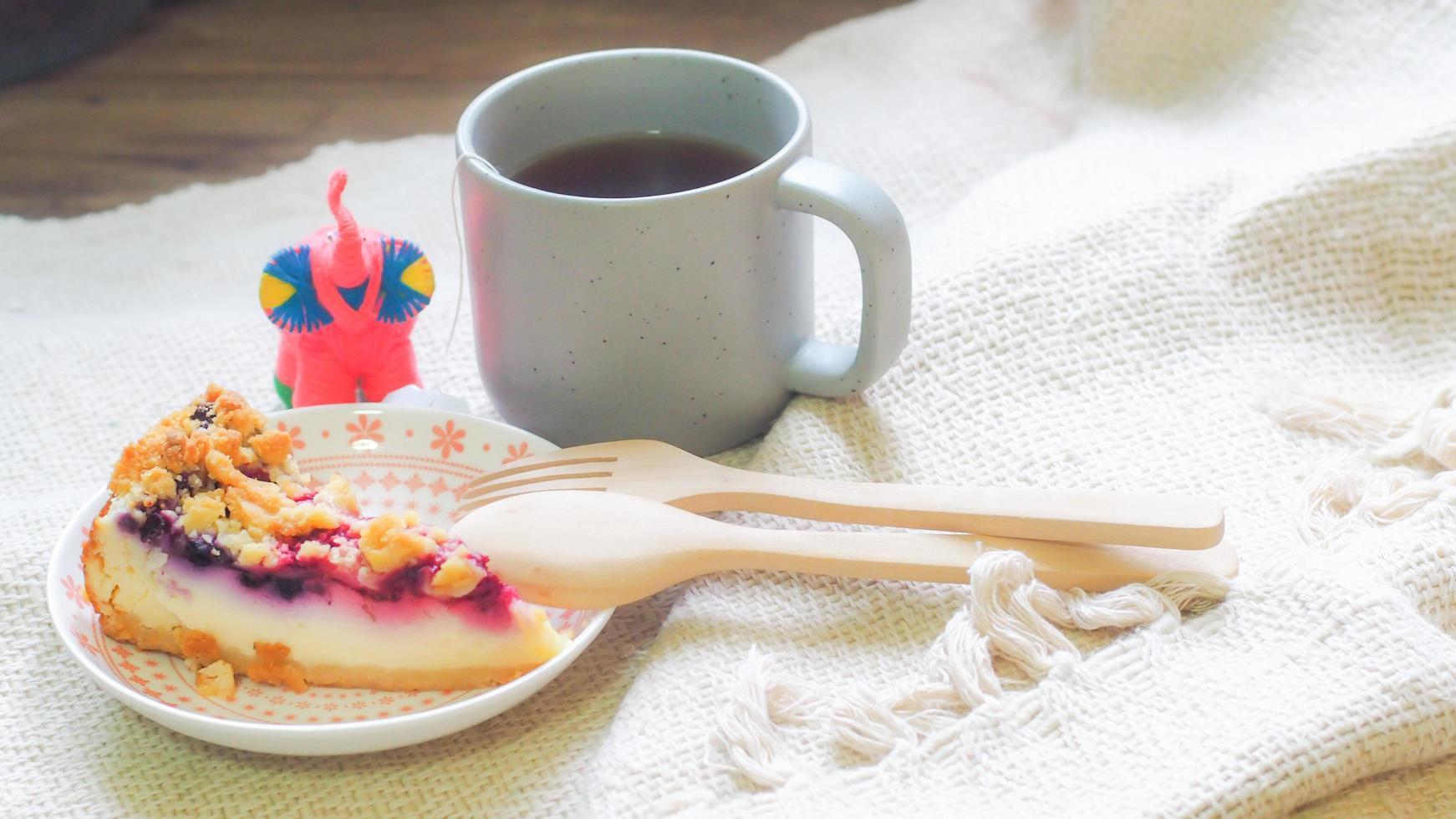 Heidelbeer-Chesse-Kuchen foto