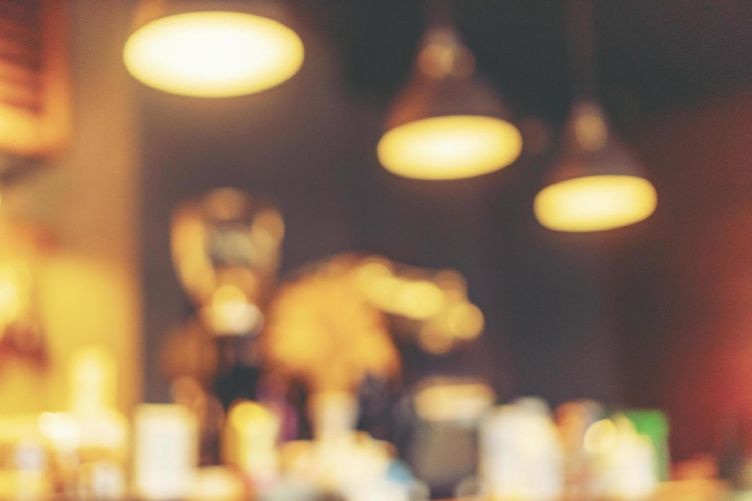 verschwommener Cafe Hintergrund foto