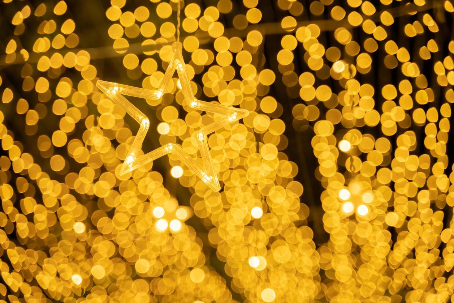 goldene Lichter Bokeh foto