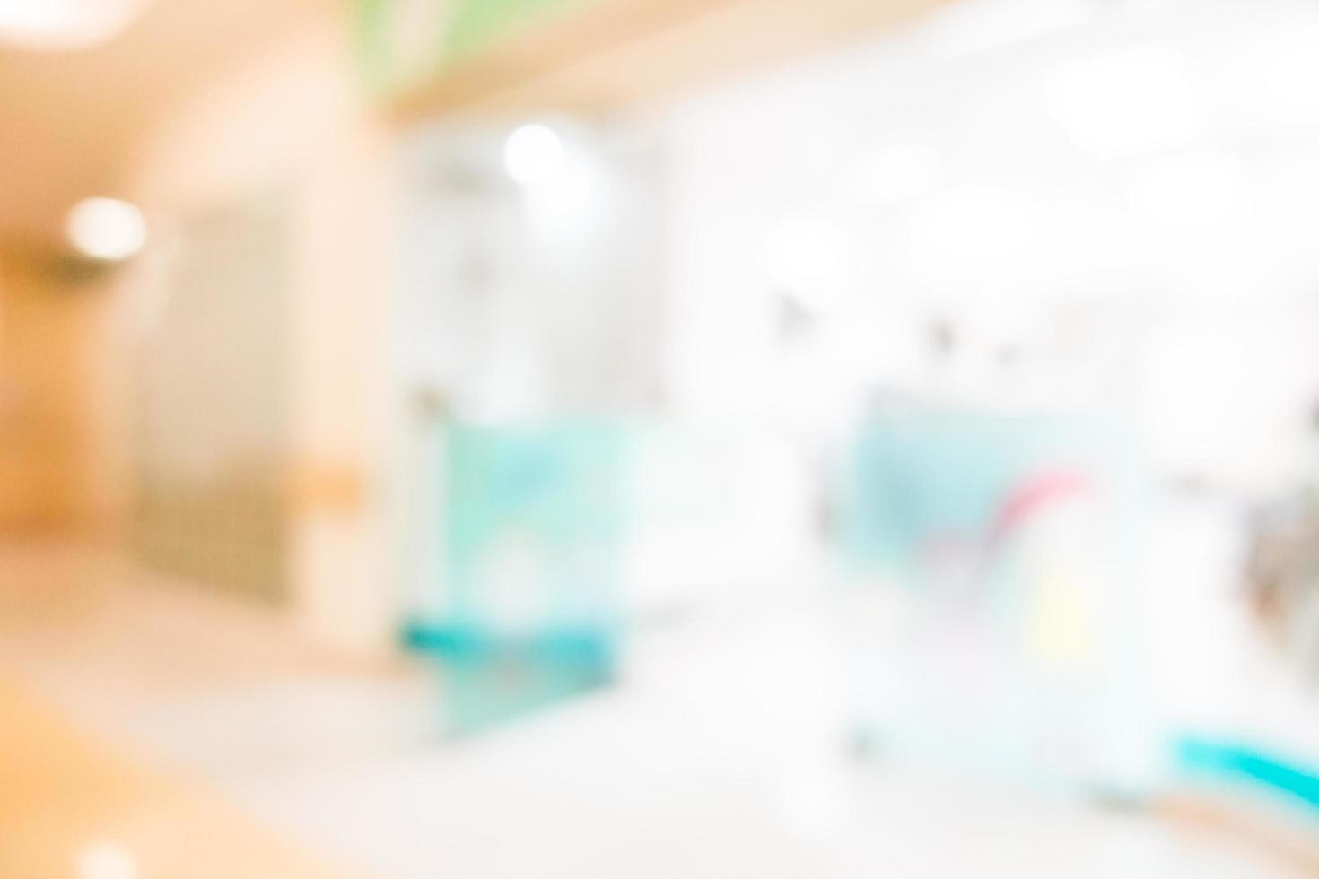 defokussiertes Krankenhausinnere foto