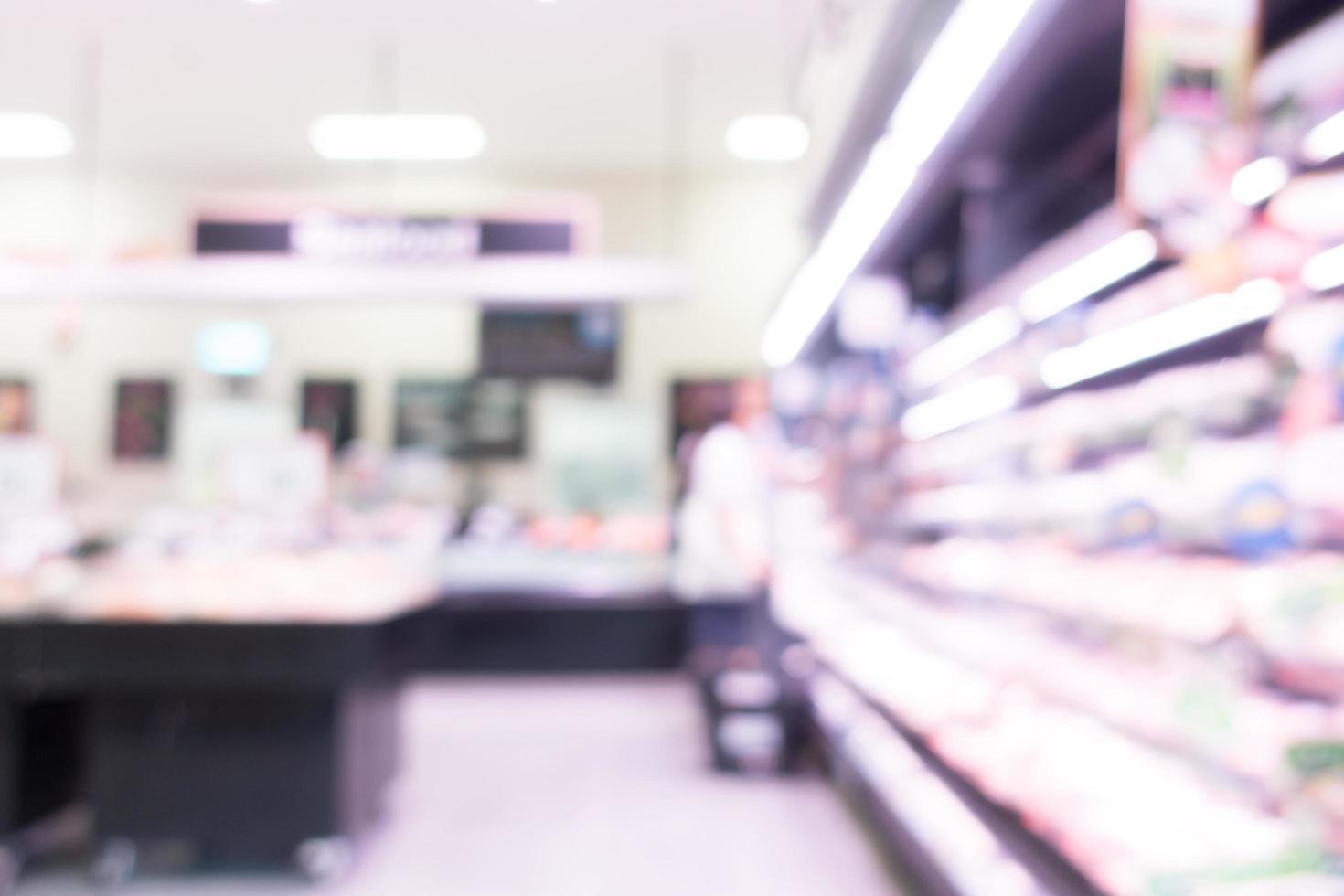 abstrakte defokussierte Supermarktinnenausstattung für Hintergrund foto