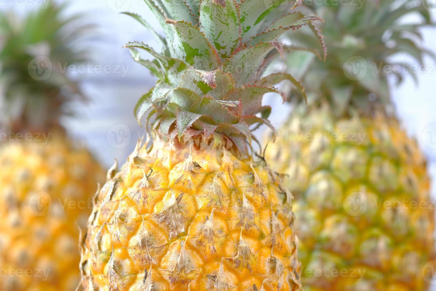 Nahaufnahme von frischer Ananas foto