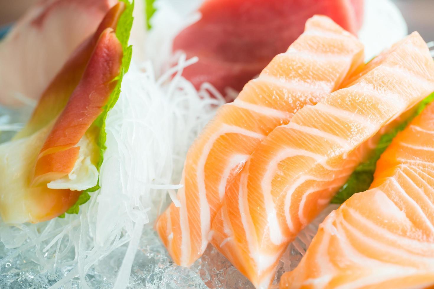 roher frischer Sashimi foto