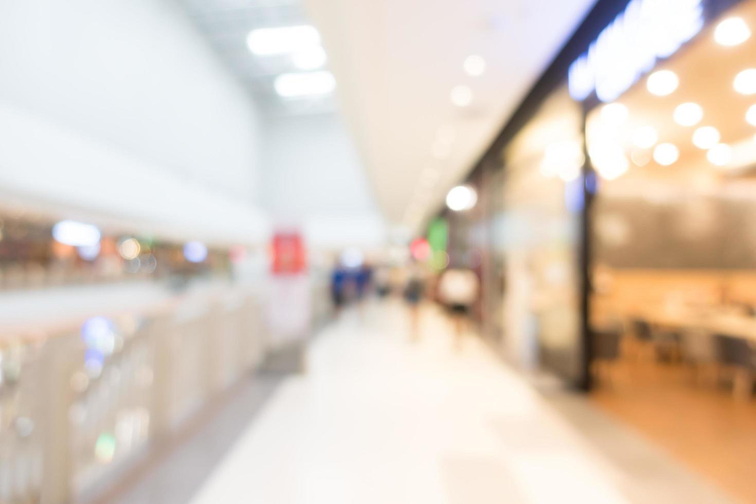 abstrakt defokussiertes Einkaufszentrum Interieur für Hintergrund foto