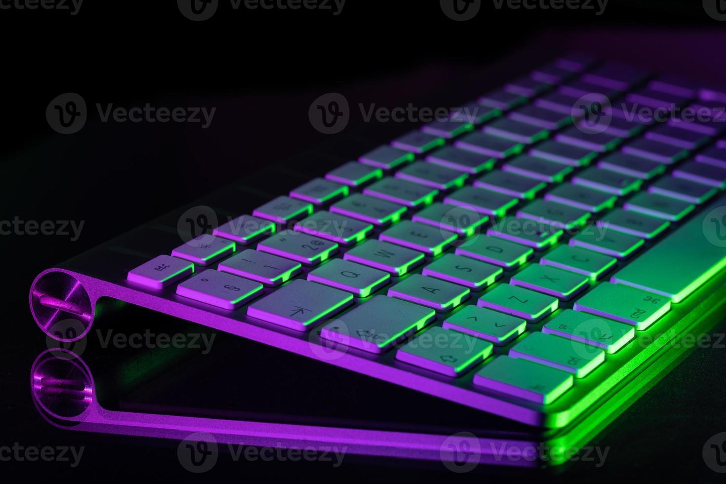 bunt beleuchtete Tastatur foto