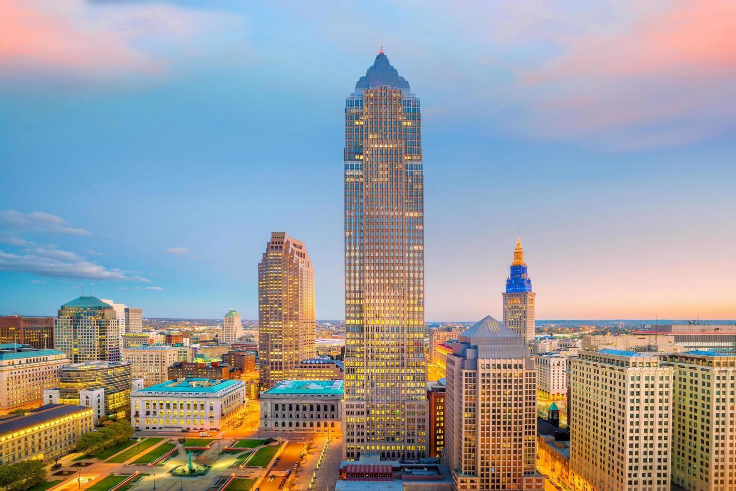 Blick auf die Innenstadt von Cleveland foto