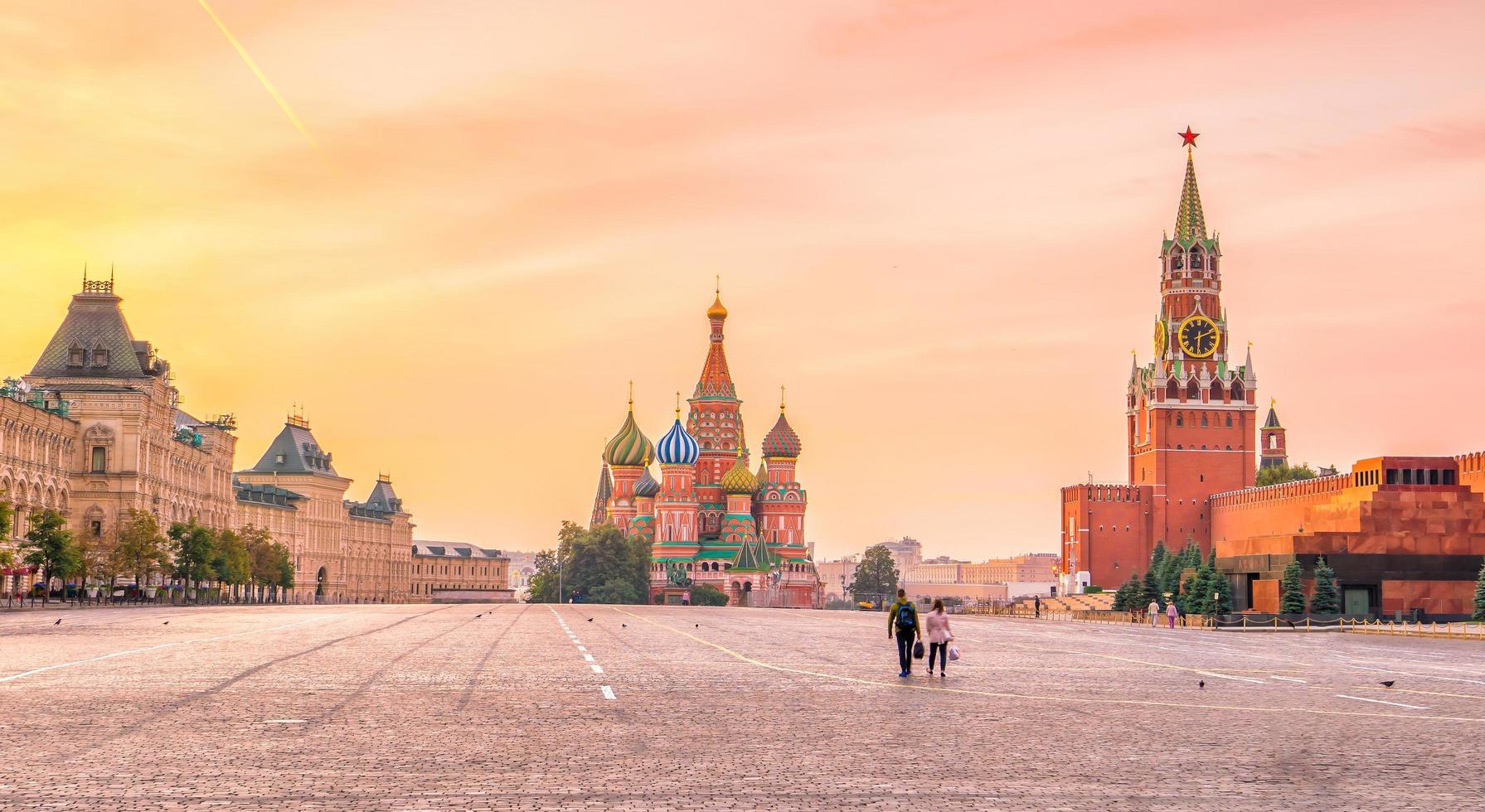 Basilikum Kathedrale am roten Platz in Moskau foto