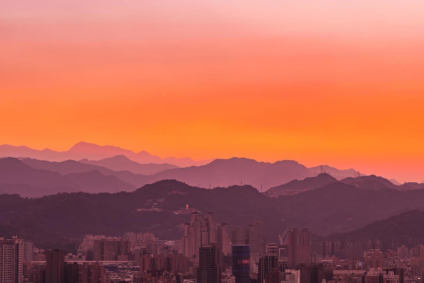 Ansicht der Stadt Taipeh in Taiwan foto