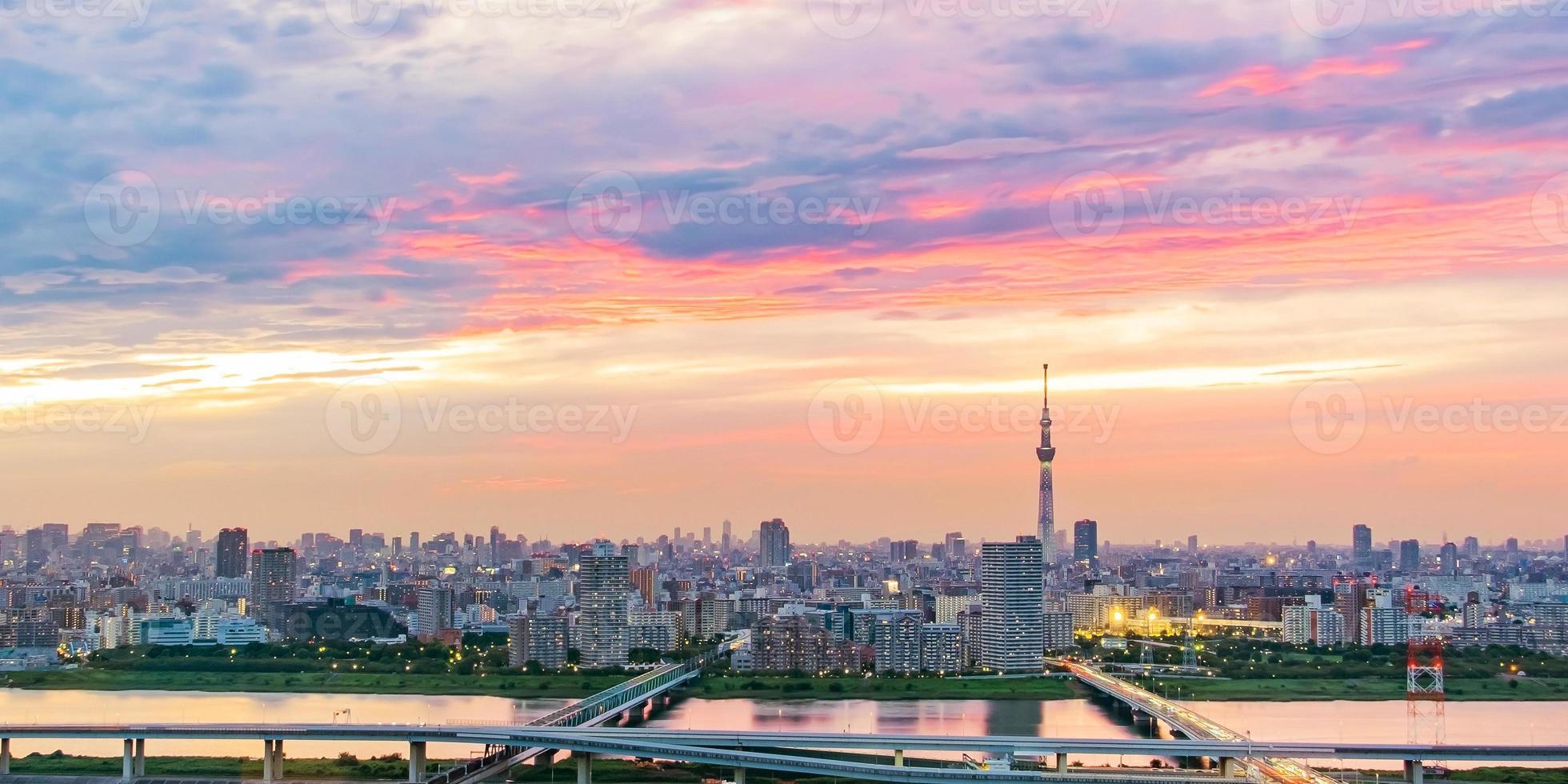 Stadtbild von Tokio foto