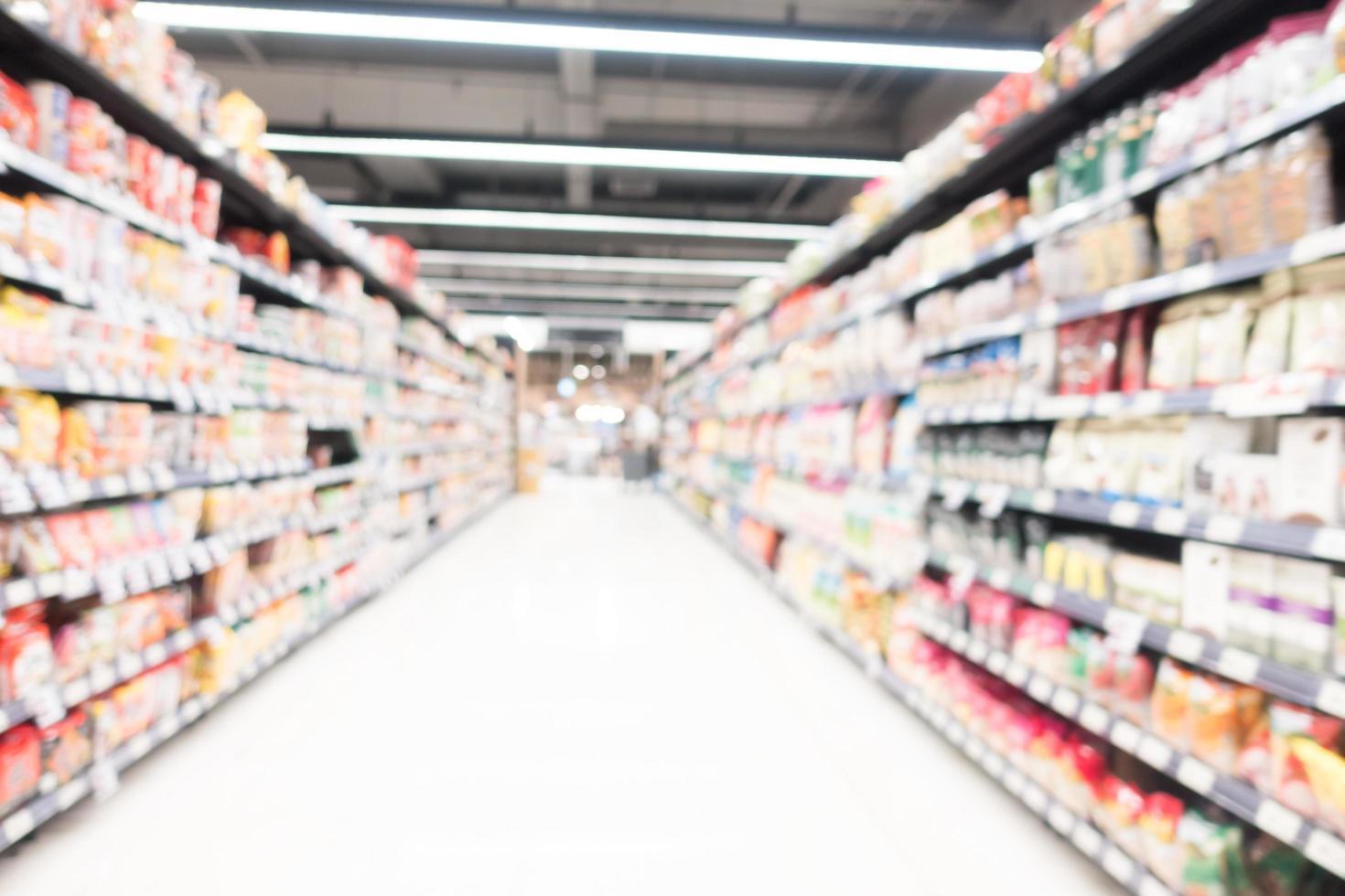 abstrakte Unschärfe Supermarkt foto