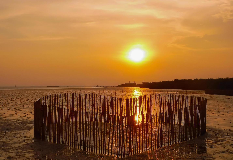 Sonnenuntergang im Herzen der Liebe foto