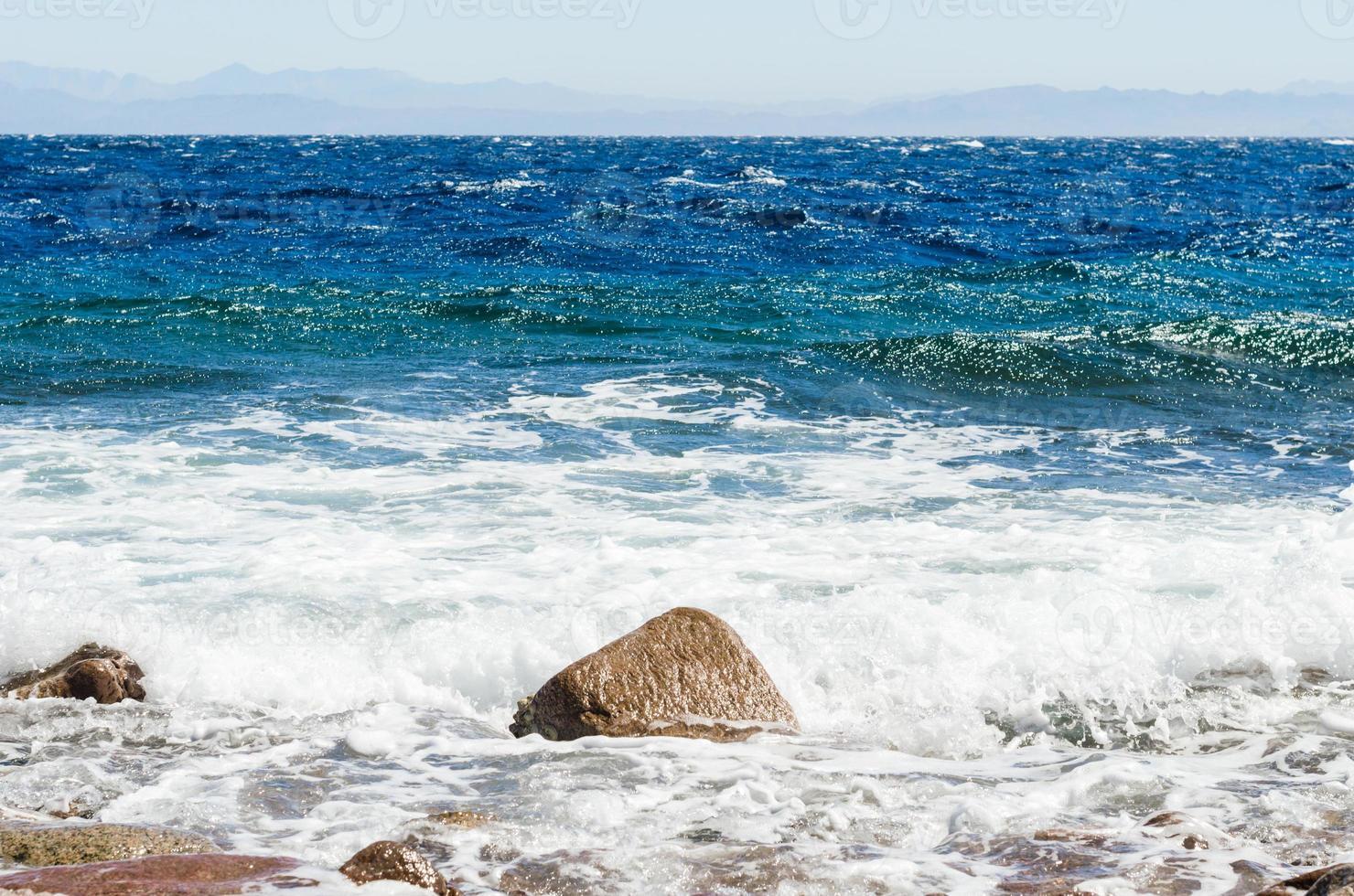 Fels und Wellen foto